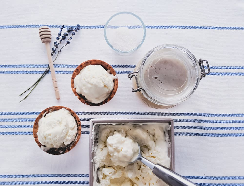 You're Only 4 Ingredients Away from This Sea Salt & Honey Ice Cream