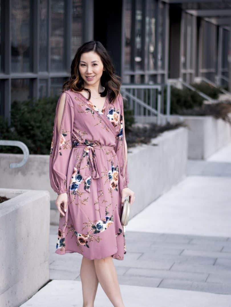 Spring #OOTD: Boutique Ayn Floral Split Sleeve Wrap Dress
