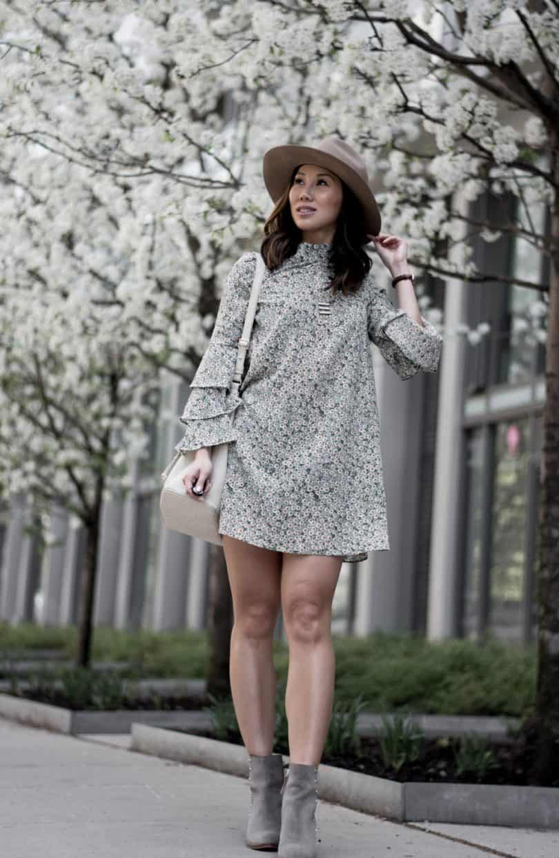 Casual spring floral dress look #styleblogger #streetstyle
