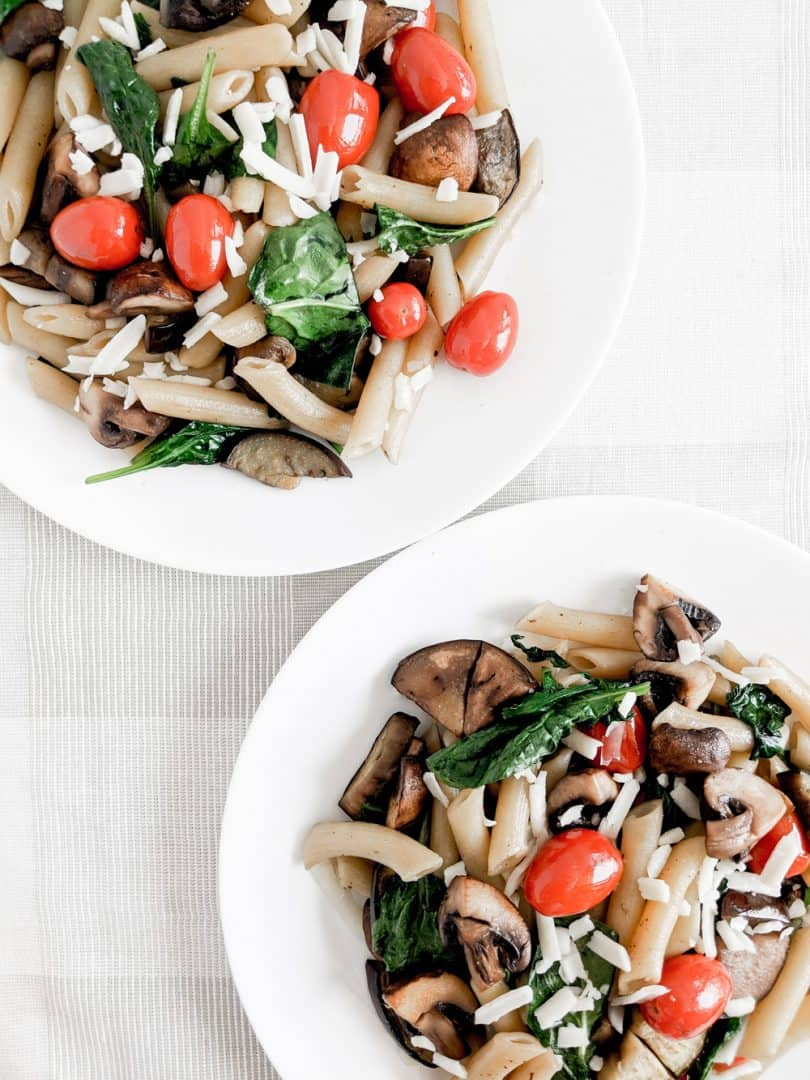 Make this easy fresh summer pasta in 20 minutes or less!