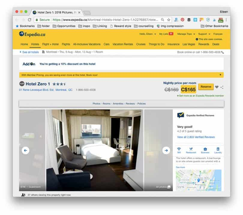 Saved on my Expedia hotel booked with Add-On Advantage