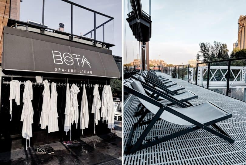 Bota Bota spa is located in the Port of Old Montreal .. see more from my Montreal Travel diary