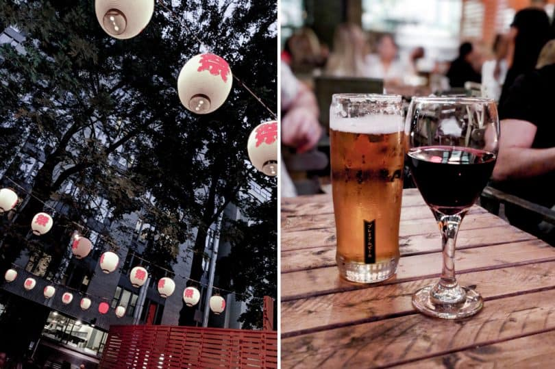 Alfresco dining in Montreal at Birru, a Japanese Tapas Izakaya..