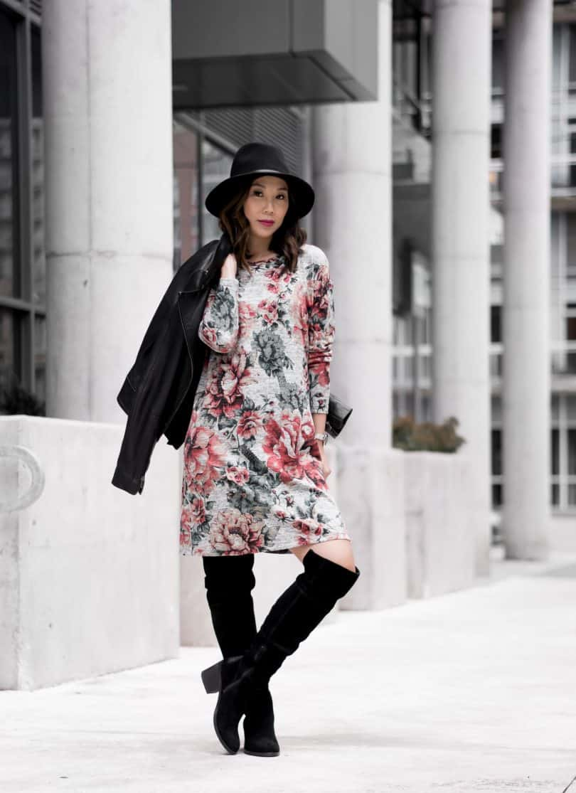 OOTD: Floral dress from 3rd Floor Studio - Canadian fashion designer