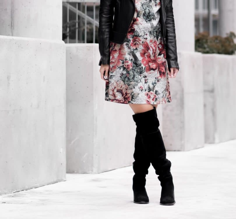 3rd Floor Studio Sophia Dress with Aldo suede boots