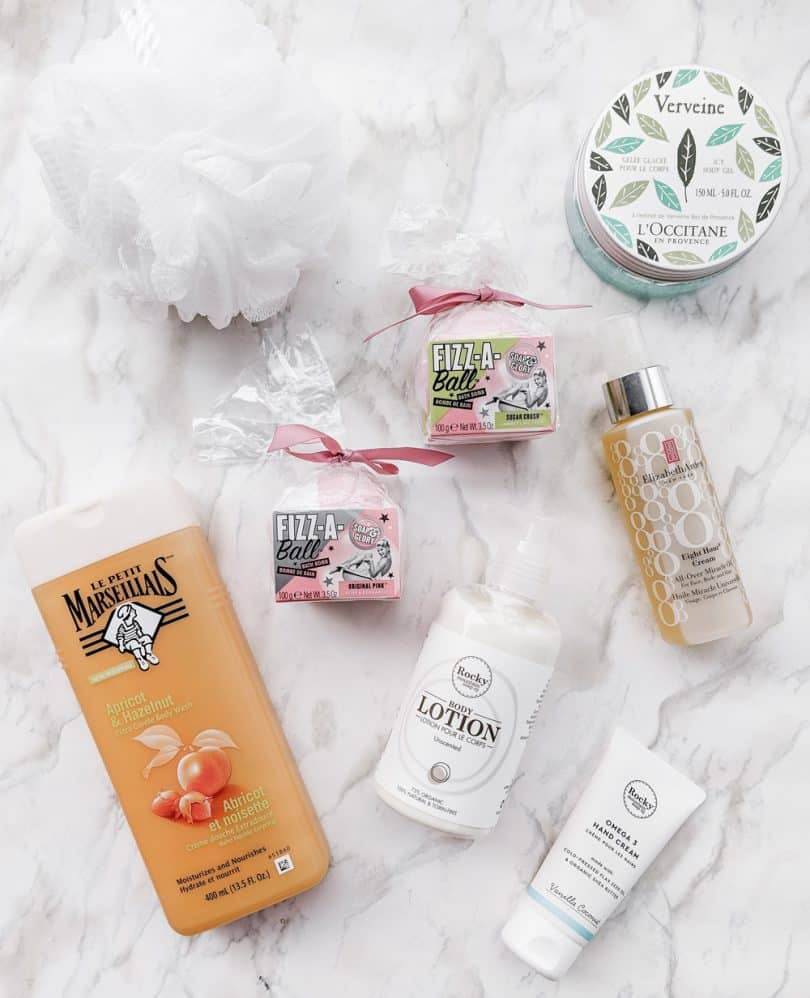 Body care favorites from Le Petit Marseillais, Elizabeth Arden, Rocky Mountain Soap Company, Soap & Glory