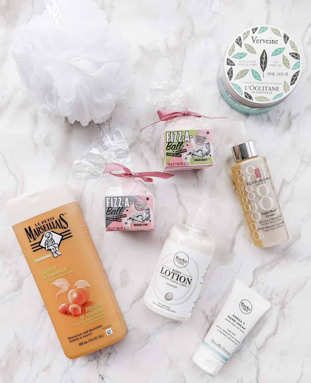 Body care favorites from Le Petit Marseillais, Elizabeth Arden, Rocky Mountain Soap Company, Soap & Glory