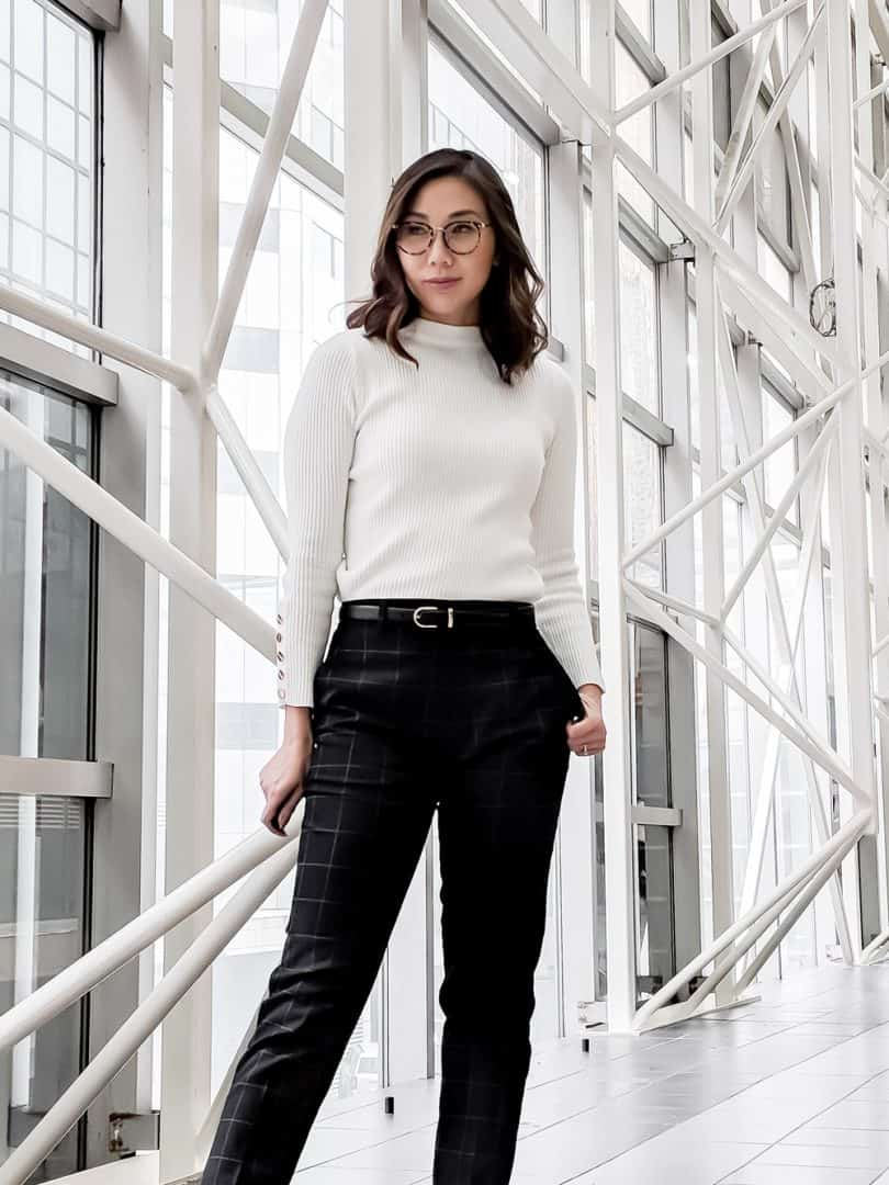 Fall OOTD: workwear look with dress pants from UNIQLO