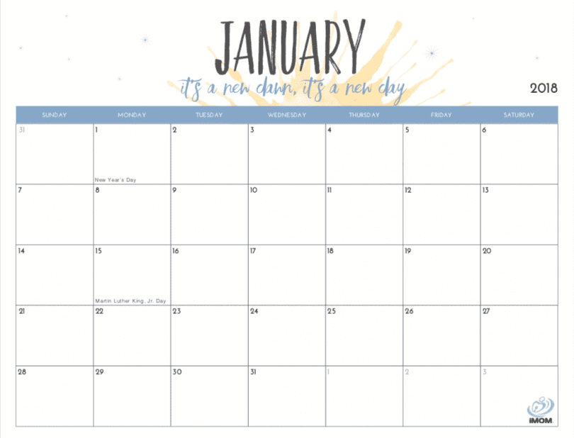 image regarding Cute Calendars named 20 Absolutely free Printable Calendars for 2019 - YesMissy