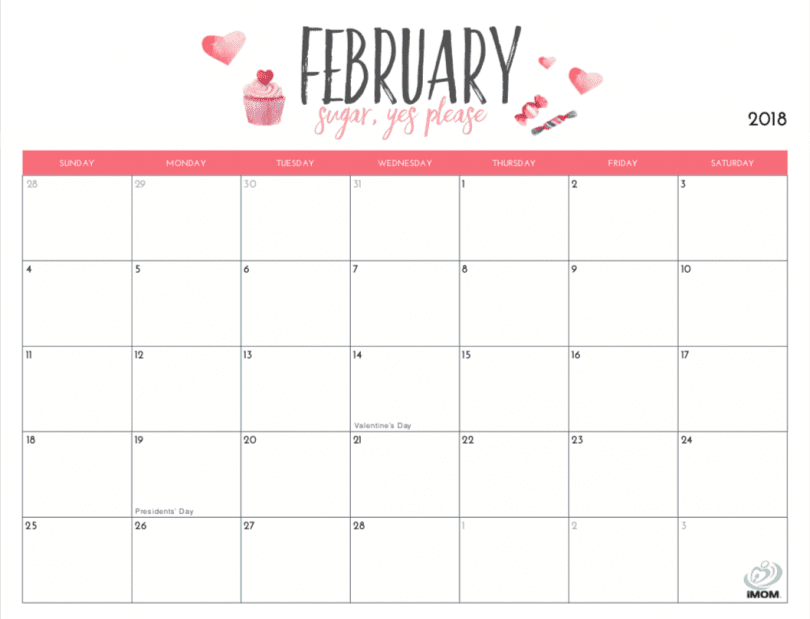 February 2020 Printable Calendar Cute.20 Free Printable Calendars For 2019 Yesmissy