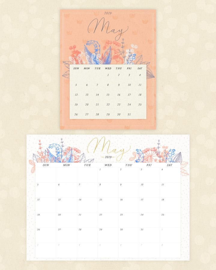 20 Free Printable Calendars For 2019