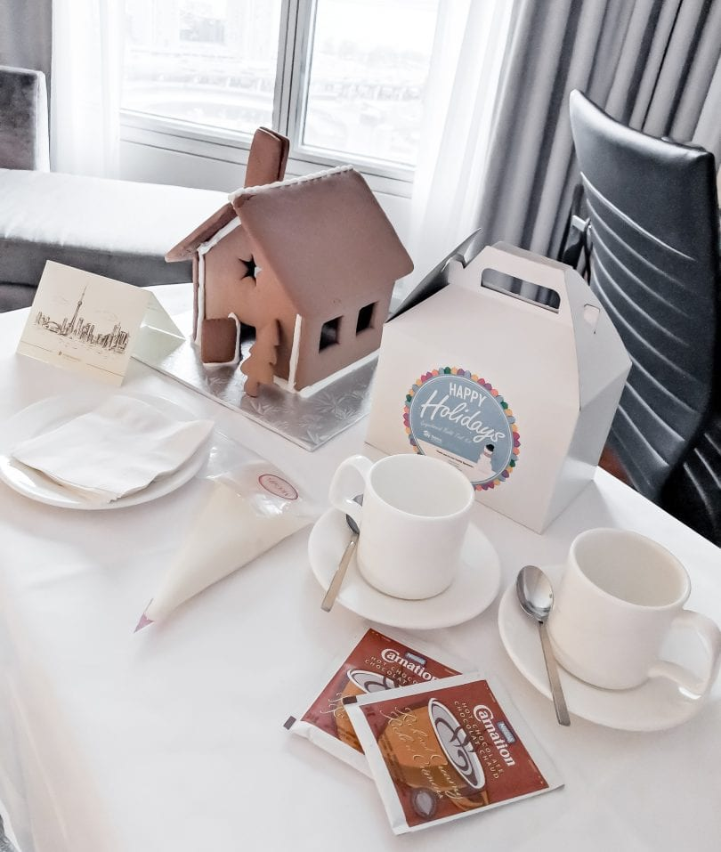 The Gingerbread package comes with a gingerbread house to decorate, hot chocolate and a breakfast buffet with upgraded rooms