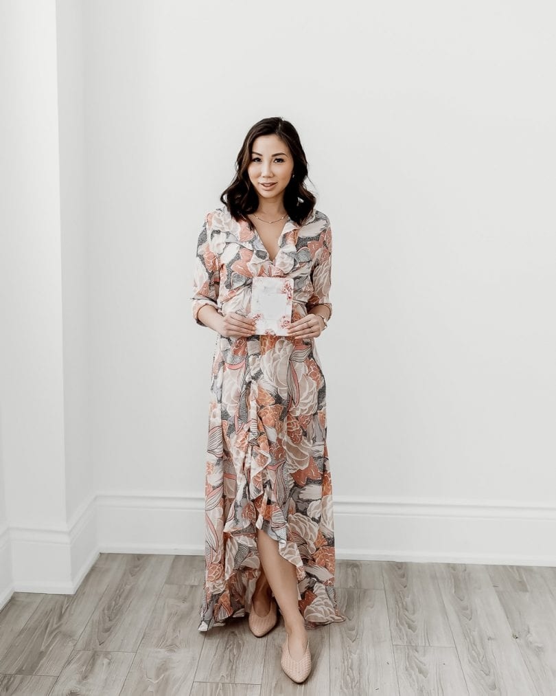 Spring Summer Look: Long floral maxi dress