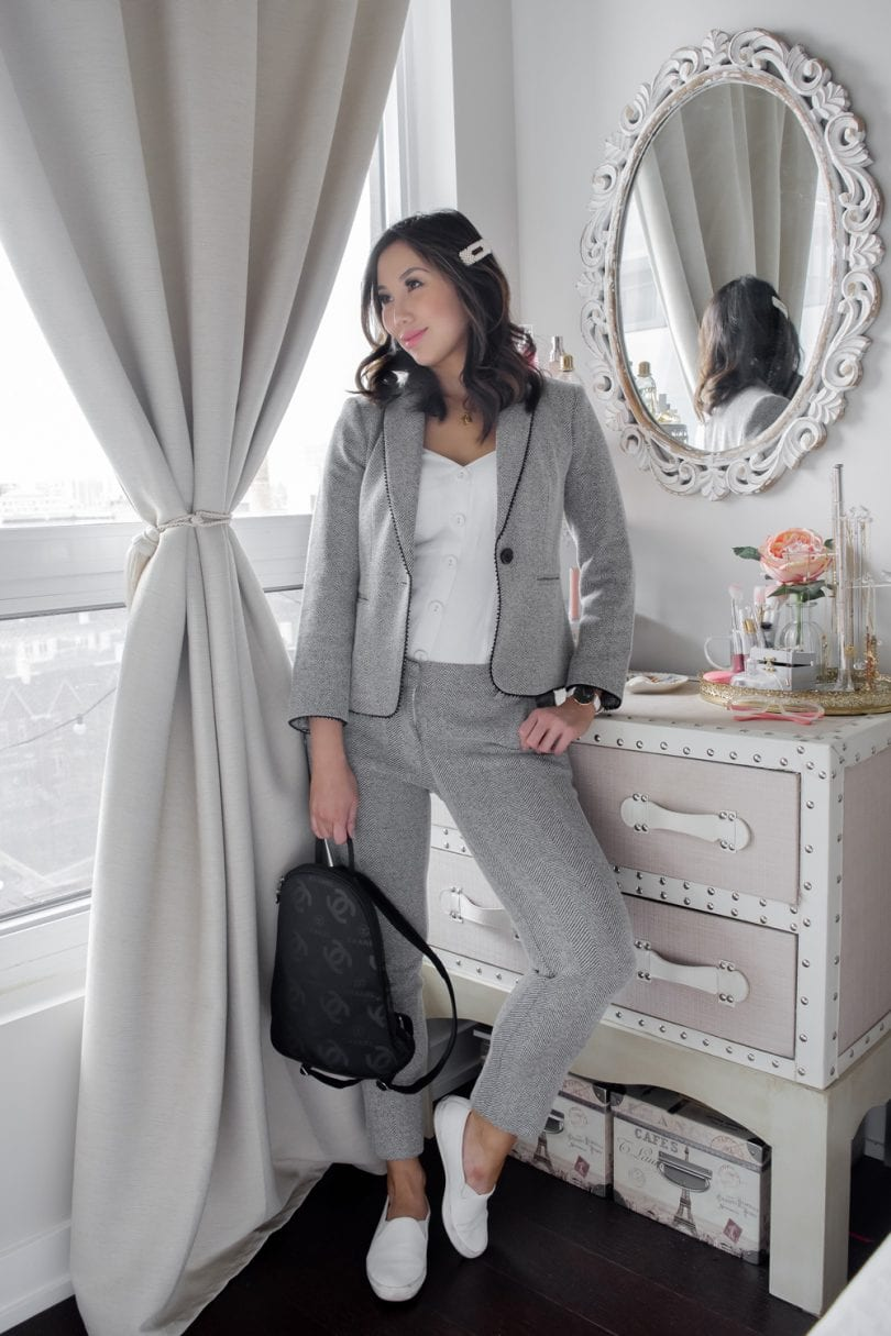 Brunch outfit ideas - cute suit casual look - fashion blogger yesmissy