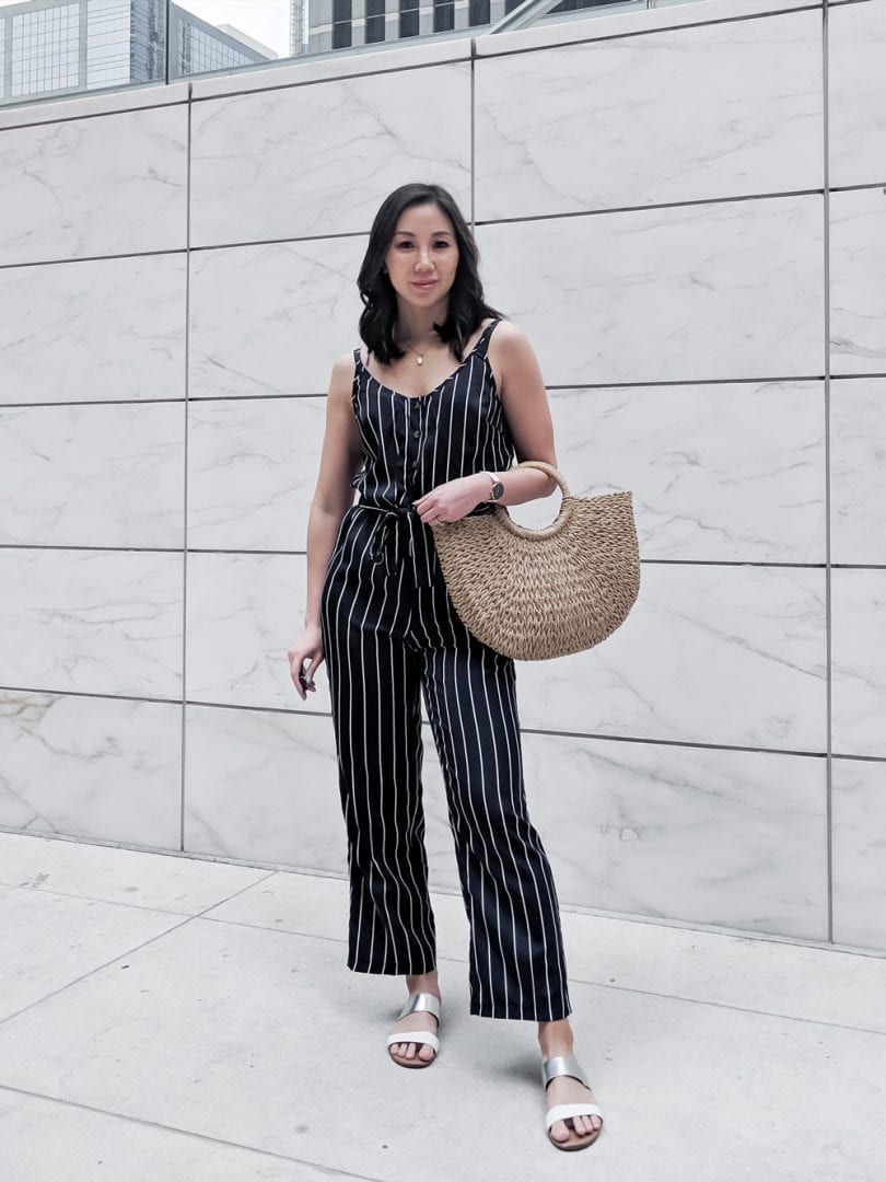 Brunch outfit - Striped Single Breasted Knot Cami Top With Pants