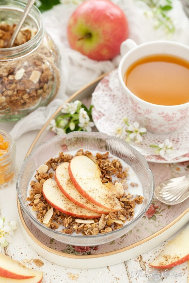 Low Sugar Recipes - Spiced apple granola recipe