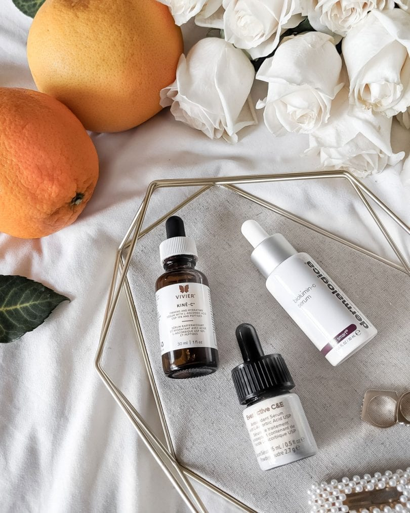 Vitamin C serums for skin brightening