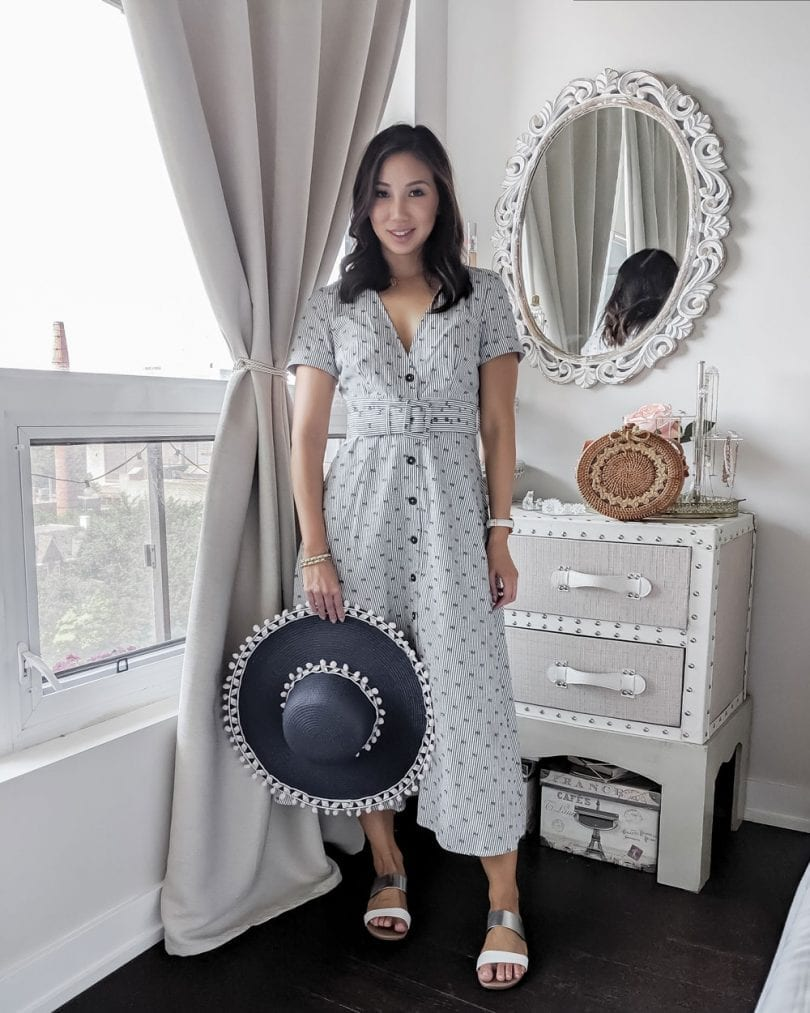 Weekend outfit ideas - midi dress from eShakti