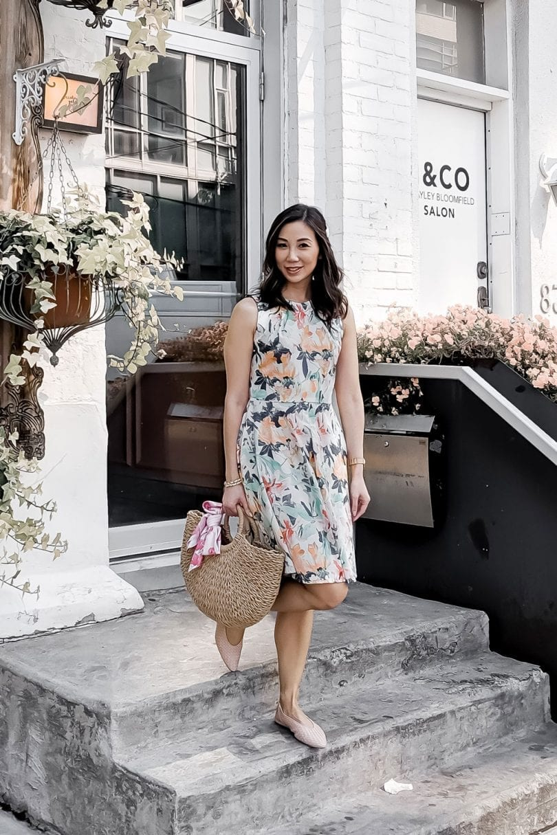 #OOTD - fit and flare dress floral print - Summer outfit ideas