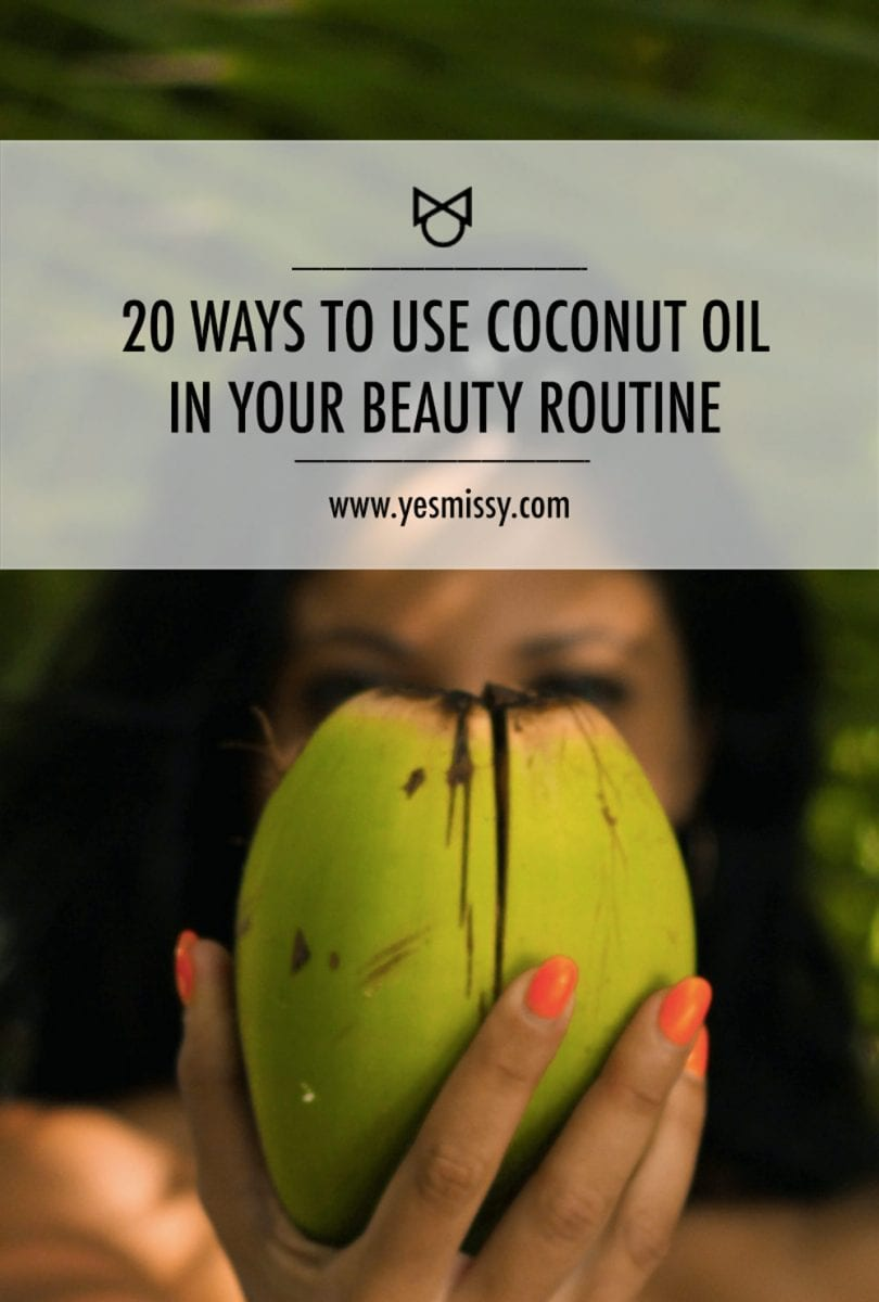 Coconut oil has unique properties with beauty benefits for skin and hair. Here are 20 ways to use it in your beauty routine.