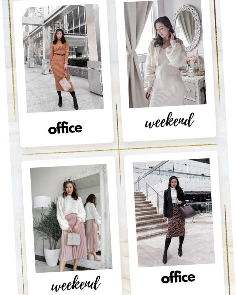 Workwear vs Weekend outfits - OOTD lookbook for office and casual outfits by lifestyle blogger Eileen Lazazzera of YesMissy