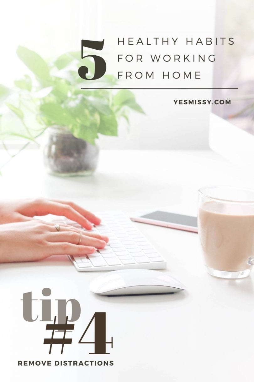 Improving productivity when working from homes means removing distractions... read more from YesMissy Lifestyle Blog