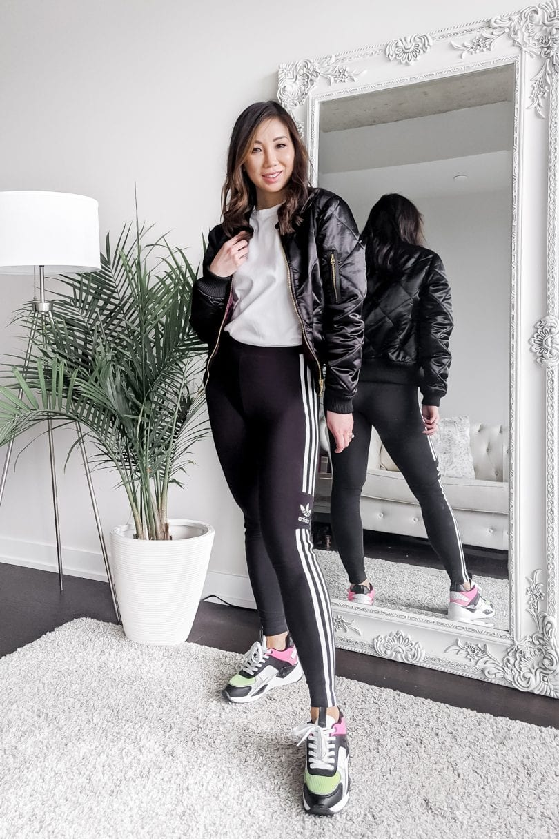 Athleisure outfits - shirts to wear with leggings for a sporty look