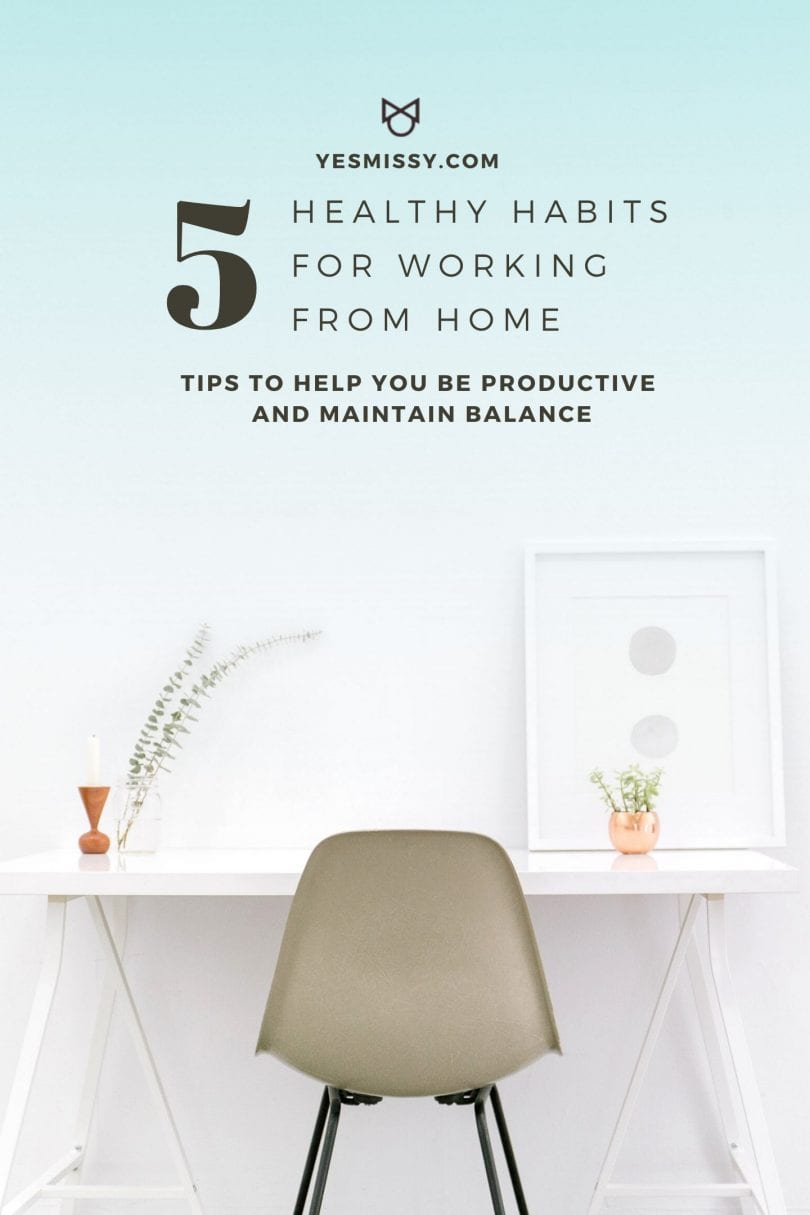 5 tips to working at home for the first time - to be more productive and effective