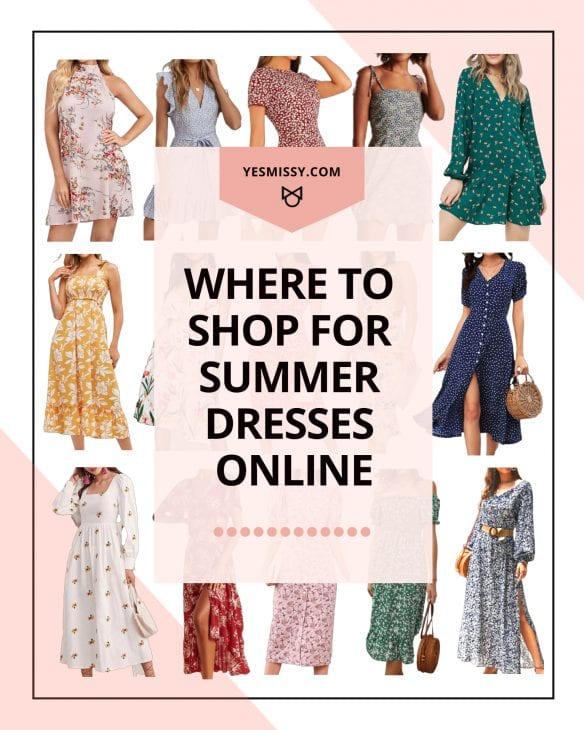 Get ready for summer with this roundup of where to buy summer dresses online in every price range and style. Casual dresses, cute dresses, maxi dresses, floral dresses, milkmaid dresses, linen dresses and more! Visit yesmissy.com to get the full list!