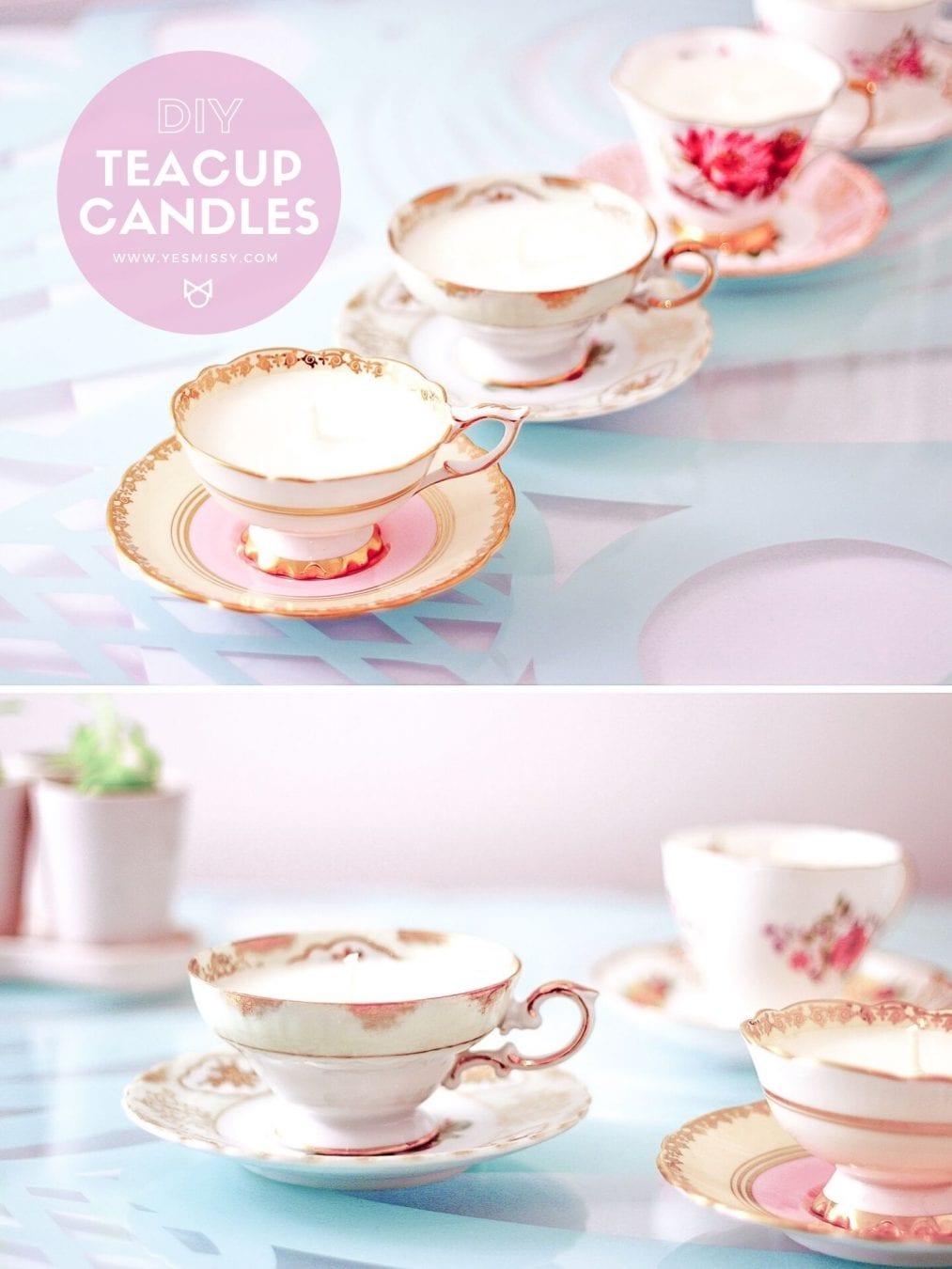 Diy Teacup Candles Tutorial Yesmissy