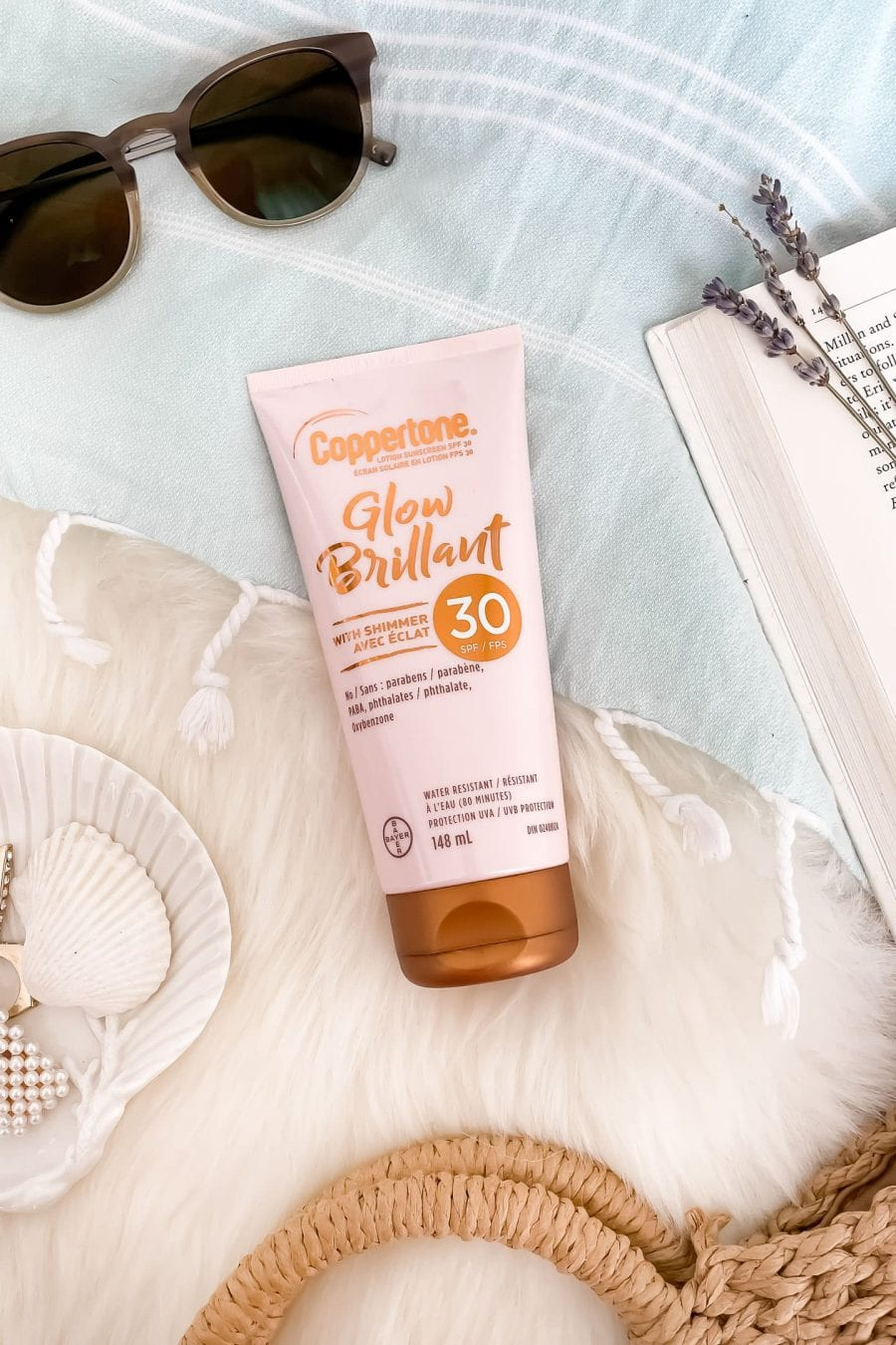 Best sunscreen for body - The Coppertone sunscreen has a bit of with shimmer which gives your body an extra glow!