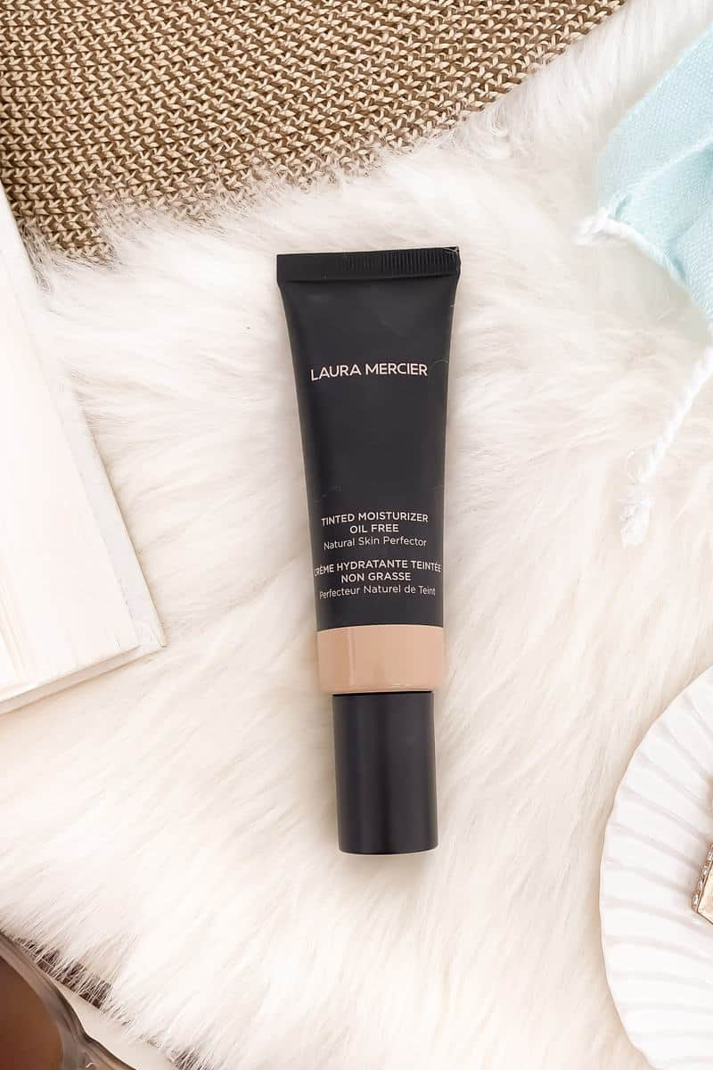 Great for oily skin - Laura Mercier Oil Free Tinted Moisturizer is your all in one moisturizer, sunscreen and foundation. I find it to give light to medium coverage and wears well all day. Get all the details on yesmissy.com