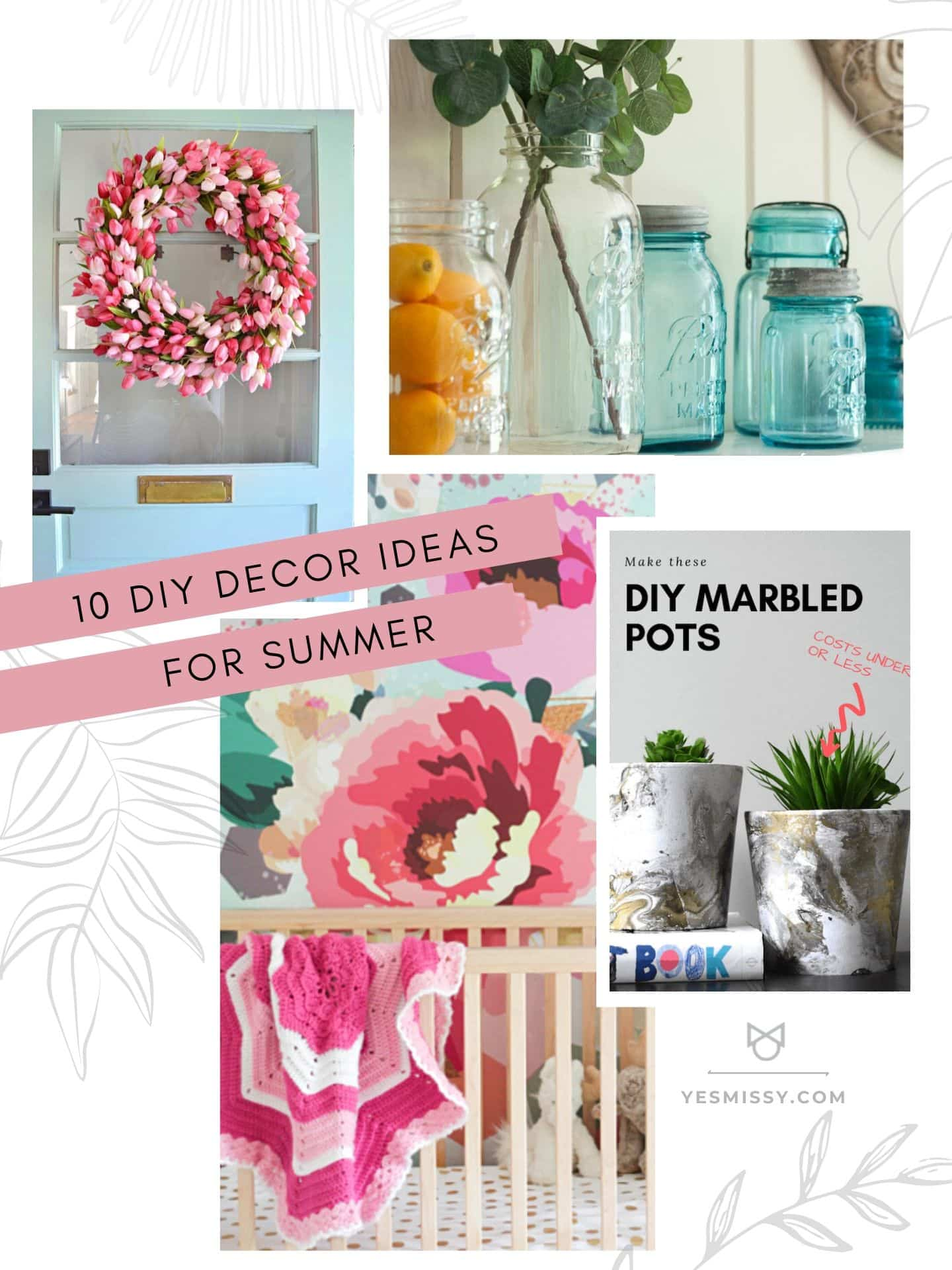 From front porch ideas to living room ideas, here are 10 DIY home decor ideas for summer to update your home.