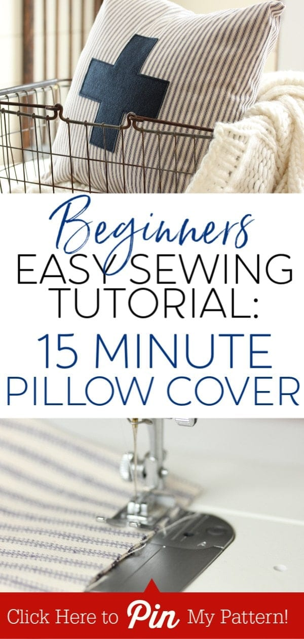 Learn to make easy sew pillow cases in this easy sewing tutorial. More decor ideas at yesmissy.com
