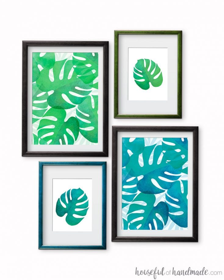 Free wall art printables to download for summer DIY decor.