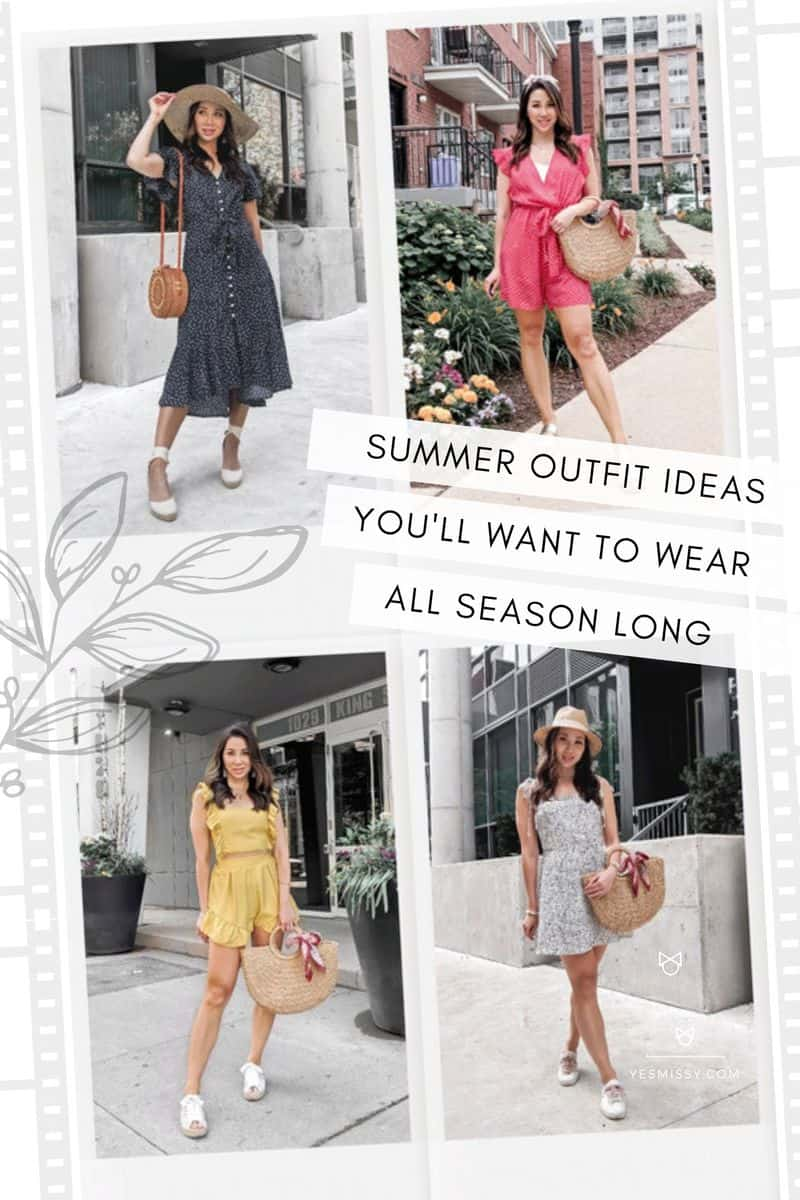 Summer outfit ideas for women. From casual summer dresses to cute rompers and summer work outfits and more...
