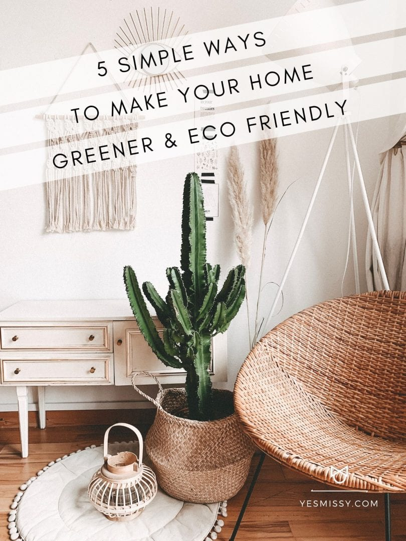 How to go green at home: Today I'm sharing 5 ways for living more sustainably with a greener lifestyle helps protect the environment and save money!