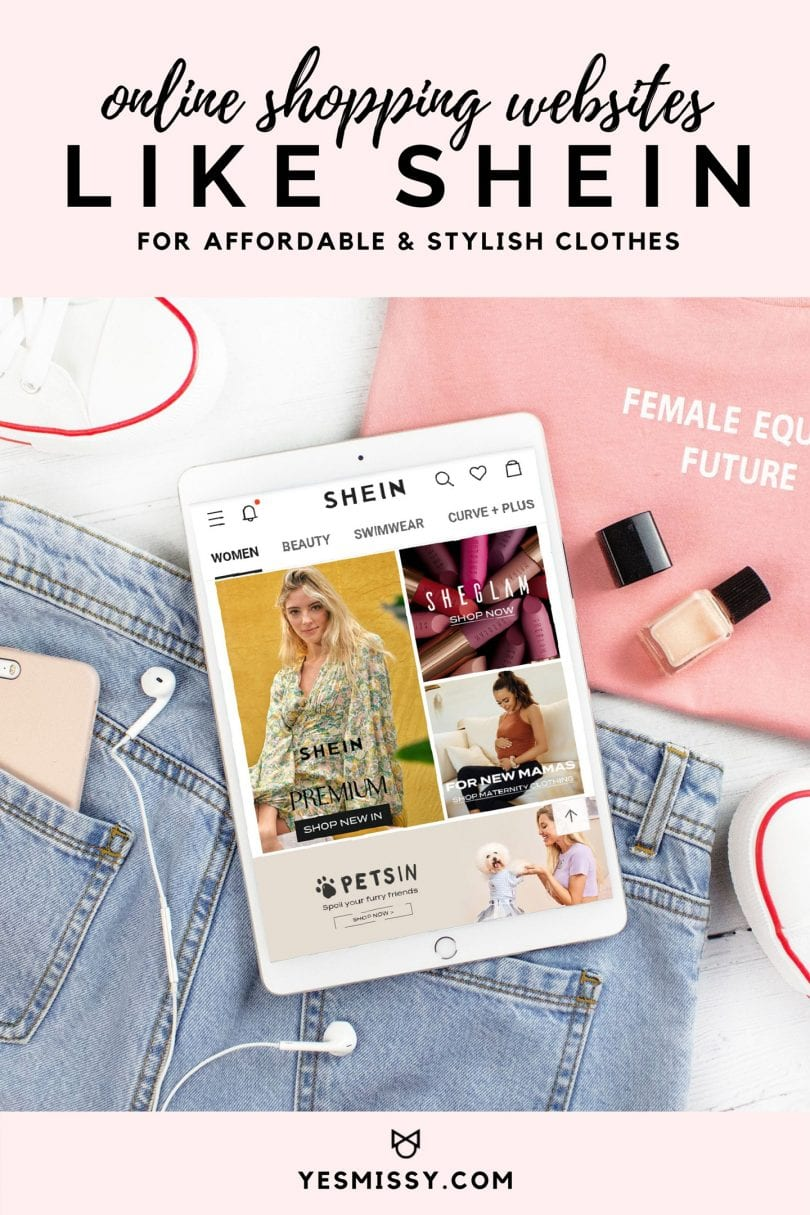 A round up of 20+ online shopping websites like SHEIN for affordable and stylish clothes, accessories, shoes and more!