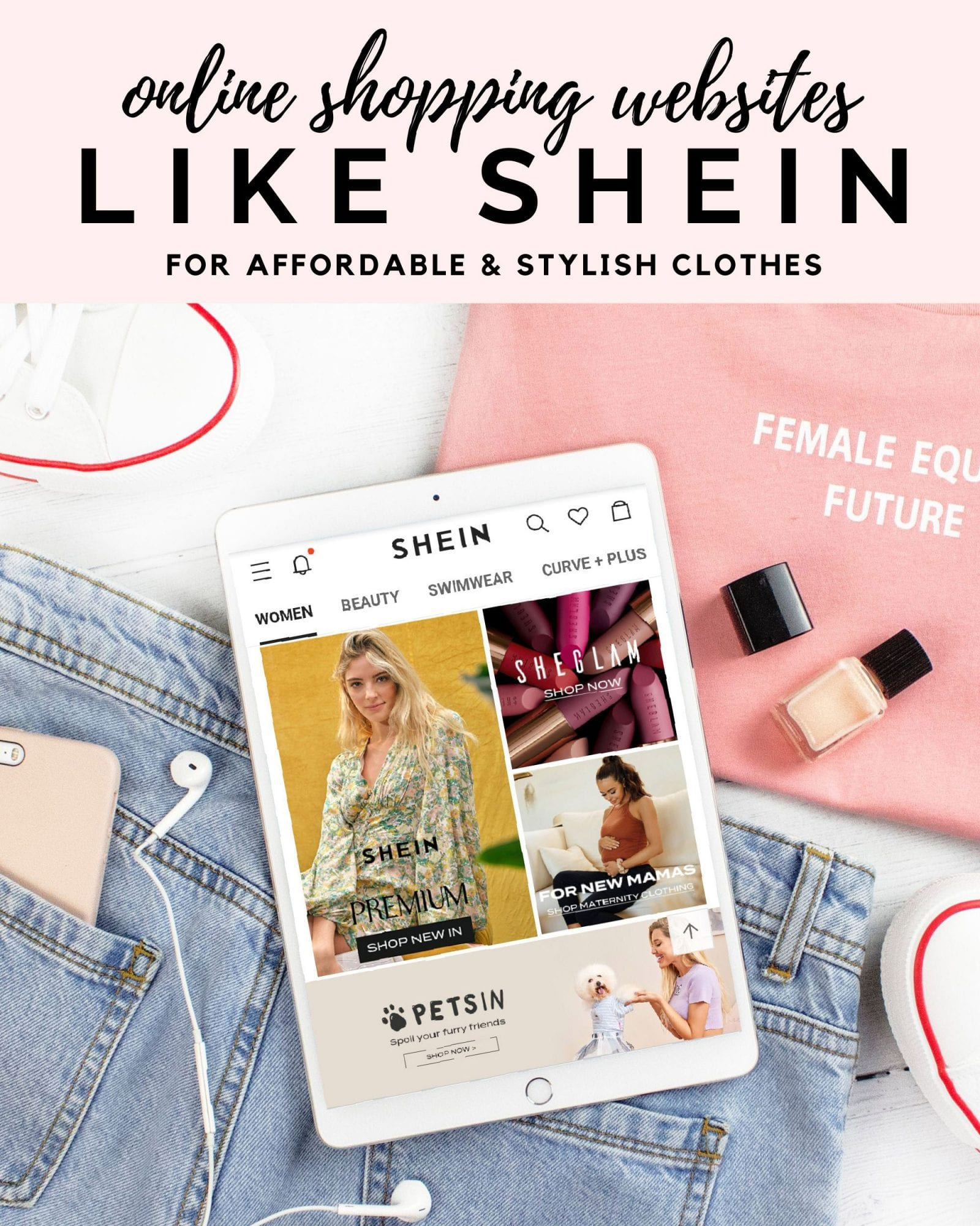 Clothing websites like SHEIN for budget-friendly stylish clothes online