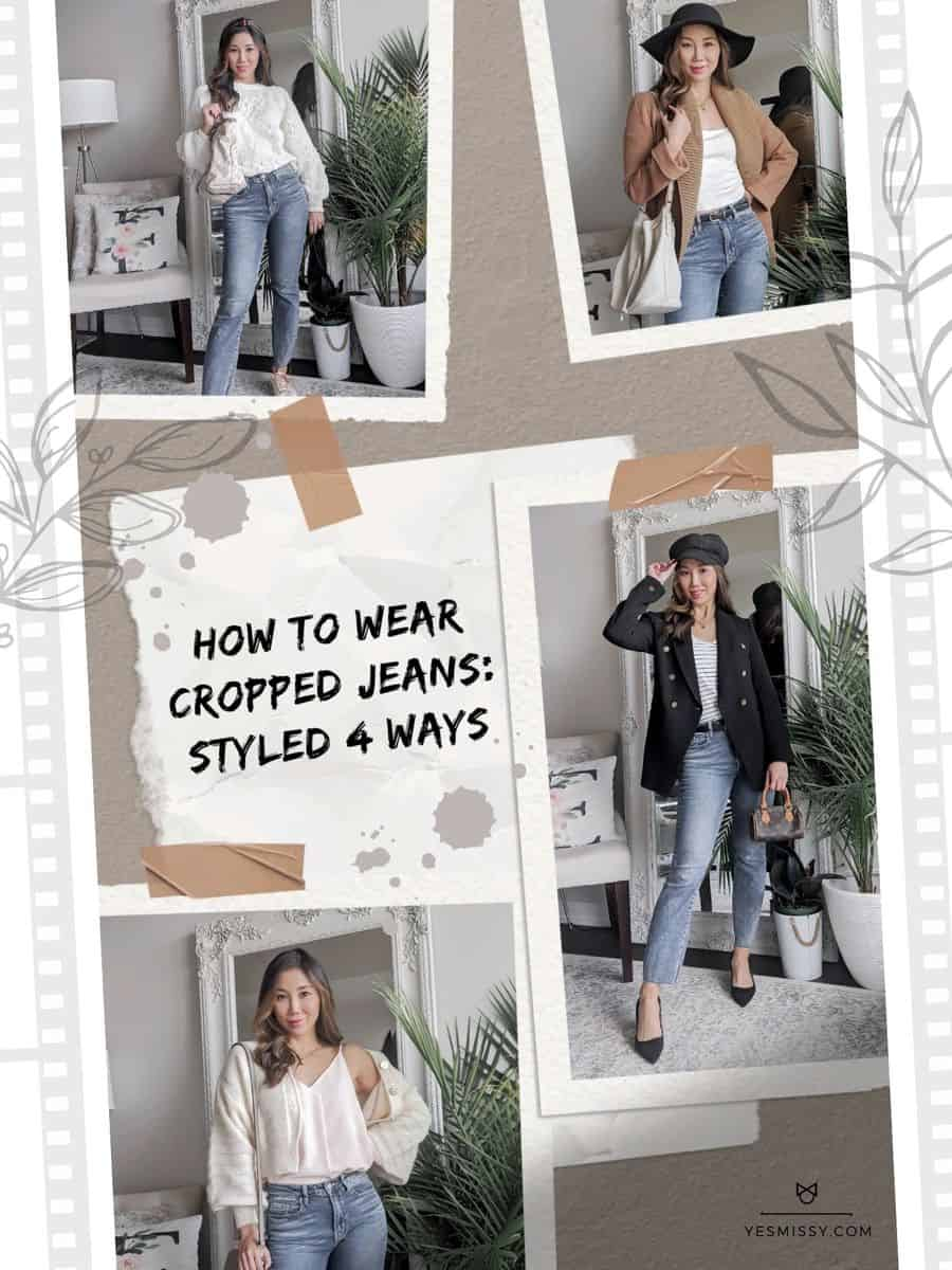 How to wear cropped jeans. What shoes to wear with them and 4 outfits as examples