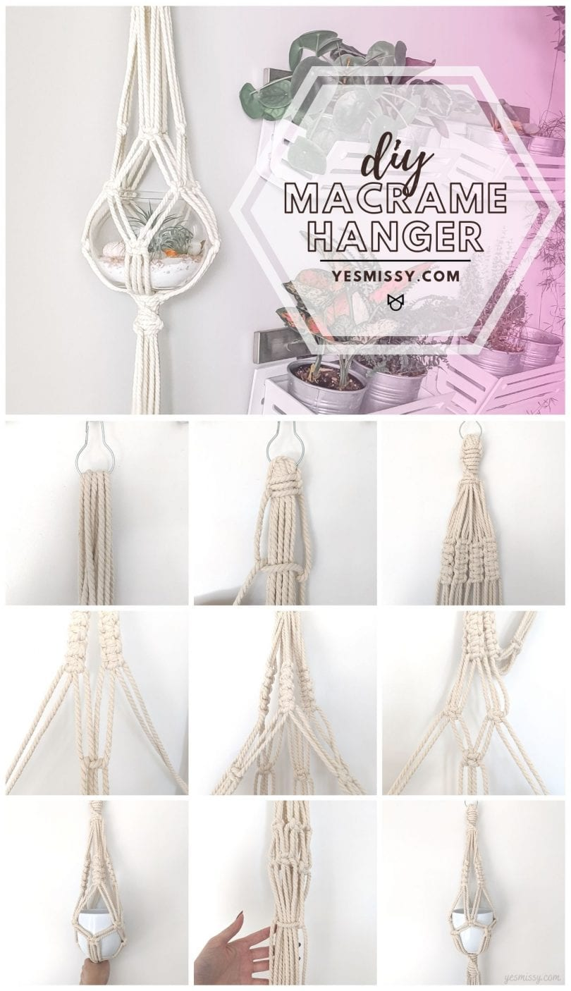 DIY Macrame Plant Hanger tutorial - with step by step instructions
