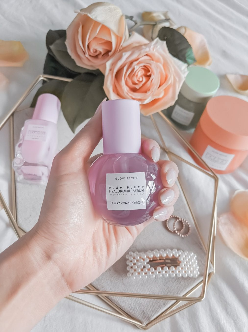After application, my face feels plump, smooth, and ready for makeup application — and the cute bottle doesn't hurt, either. Glow Recipe's Plump Plum Hyalauronic Serum