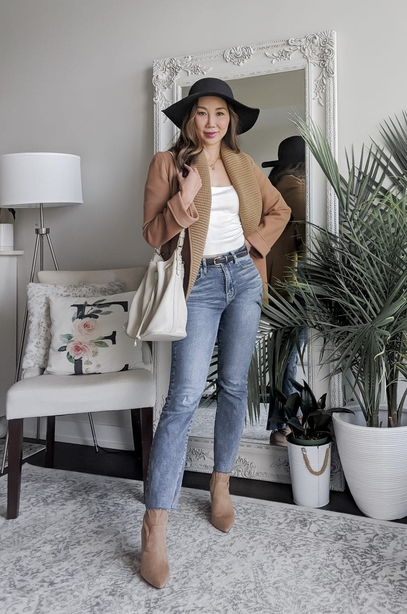 How to wear cropped jeans with ankle boots styled by fashion blogger by YESMISSY