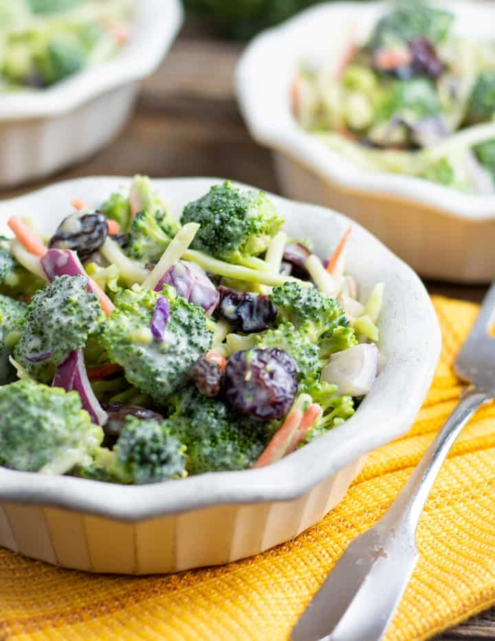 12 Easy Salads That Are Anything But Boring - Creamy Vegan Broccoli Salad