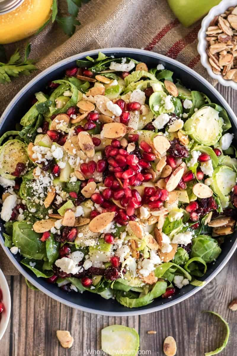 12 Easy Salad Recipes That Are Anything But Boring - A Delicious Shaved Brussels Sprout Salad That Will Please Even the Most Fussy!