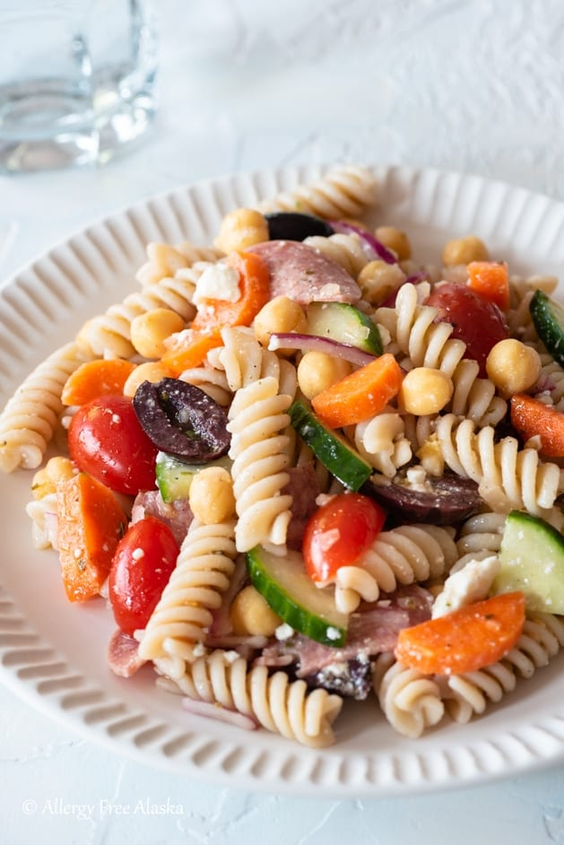 Make this easy gluten free pasta salad for your next meal!