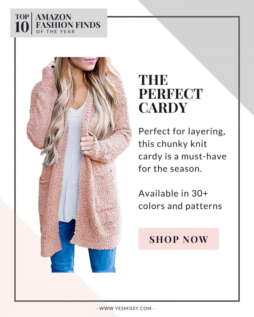 Best Amazon Clothing Finds - Cozy popcorn knit long cardigan
