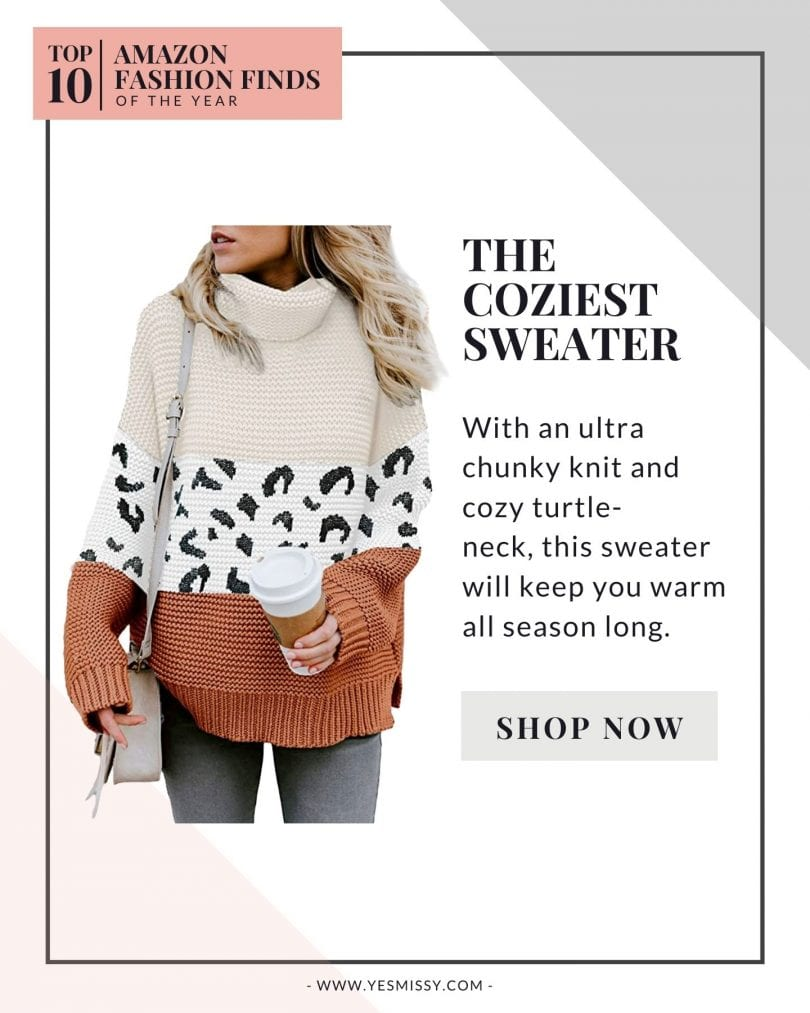 Top 10 Amazon Fashion Finds - the coziest chunky knit sweater.
