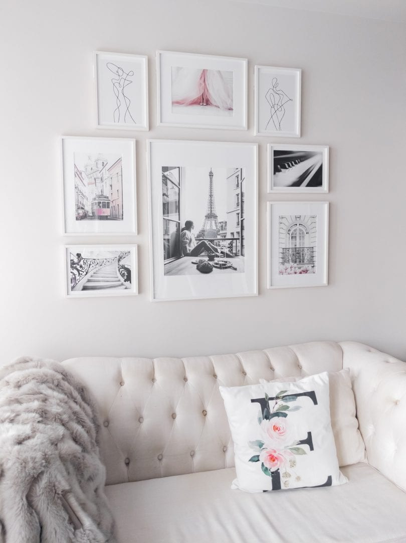 How to make a gallery wall - tips for choosing art for your DIY gallery wall