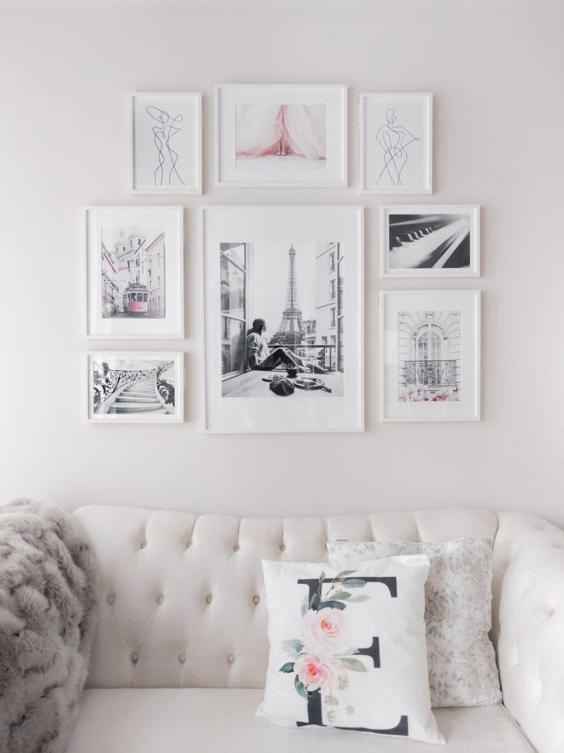 How to make a gallery wall - easy tips and tricks to help you design your gallery wall from yesmissy.com